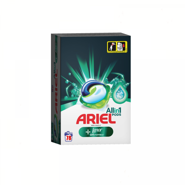 Ariel All In One Pods Plus Unstoppables 78 Spalari 0