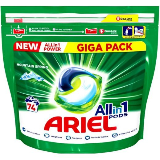 Pachet Ariel All In One Power 74 Capsule 0