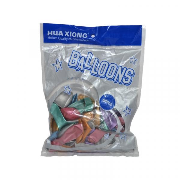 Baloane 1,5 g, sidefate, multicolore, 50 buc/set 1
