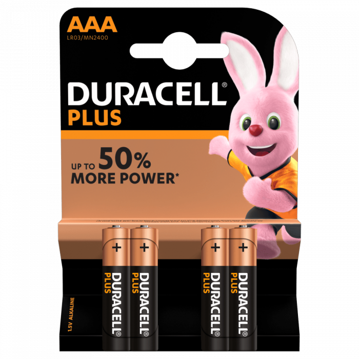 Baterii Duracell AAA , LR03/MN2400, 4 Buc/Folie [0]