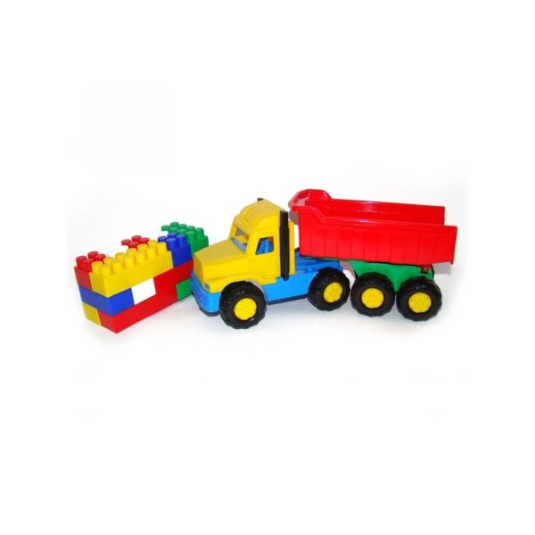 Camion + cuburi/17 piese - Favorite, 29x10x14 cm, Polesie 0