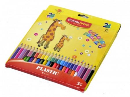 SchoolOffice Creioane Colorate 24Buc/Set [0]