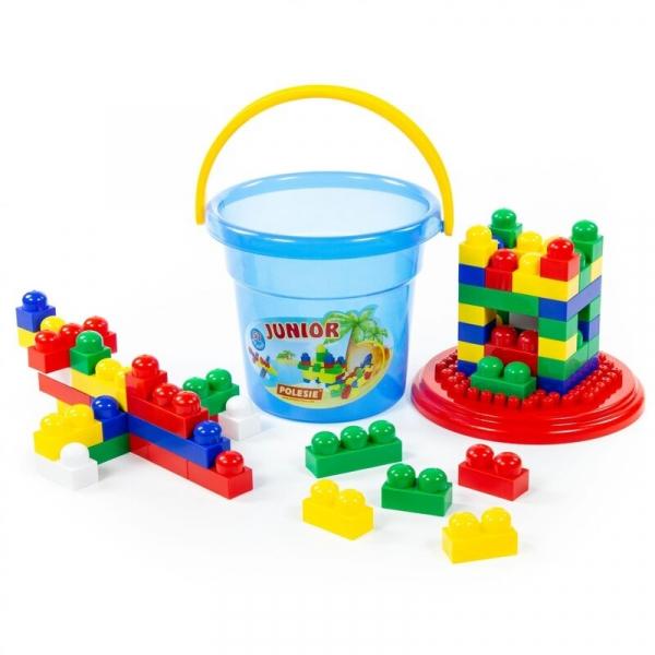 Cuburi constructii Junior, 57 piese/galetusa, Polesie 0