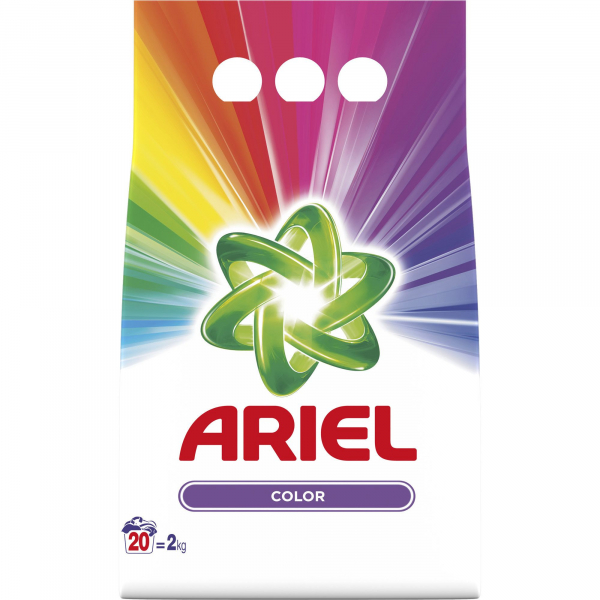 Detergent Ariel Pudră Color, 2kg 0