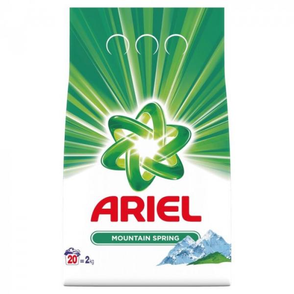 Detergent Ariel Pudră Mountain Spring, 2kg 0