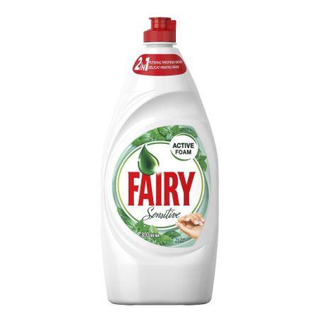 Detergent de vase Fairy Sensitive Tea Tree Mint, 800 ml 0