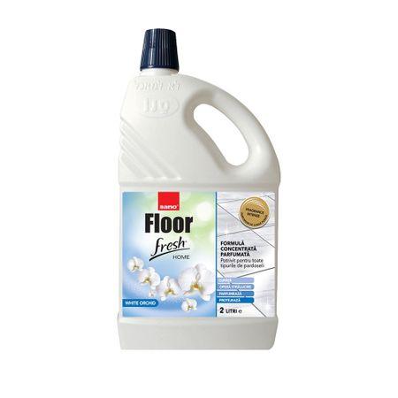 Detergent pardoseli Sano Floor White Orkide, 2 l 0