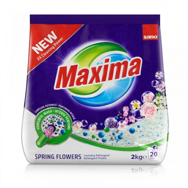 Detergent pudra Sano Maxima Spring Flower, 2kg 0