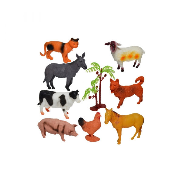 Figurine animale ferma, 8 buc/set [0]