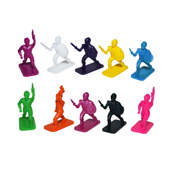 Figurine PP multicolore, 10 buc/set 1