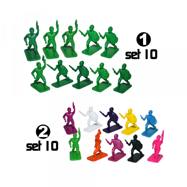 Figurine PP multicolore, 10 buc/set 0