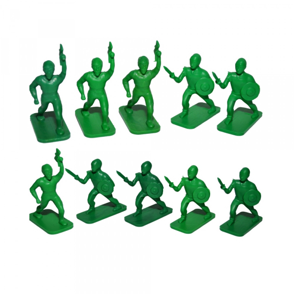 Figurine PP multicolore, 10 buc/set 2