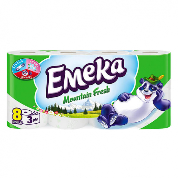 Hartie Igienica Emeka, Mountain Fresh, 8 Role, 3 Straturi 0
