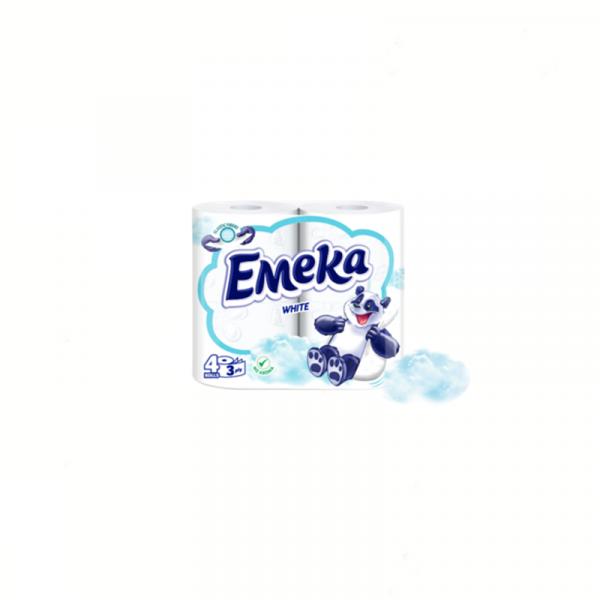 Hartie Igienica Emeka White 4 Role 0