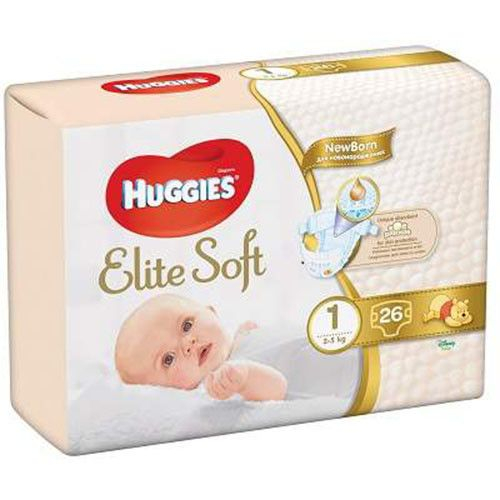 Huggies Elite Soft Nr1 (26buc) 0