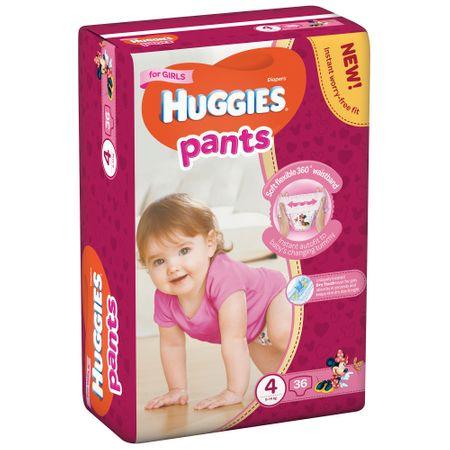 Huggies Pants Nr4 Girl 36buc/pach 0