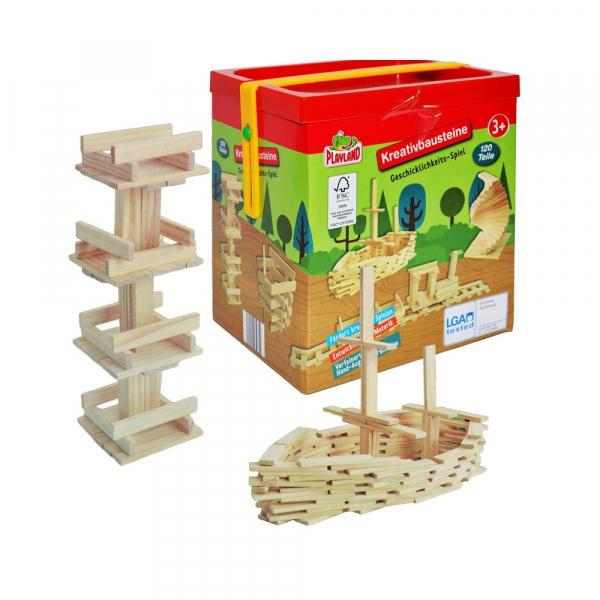 Joc constructii din lemn, 120 piese/cutie 0