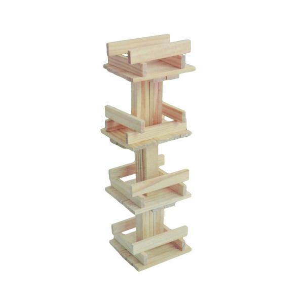 Joc constructii din lemn, 120 piese/cutie 3