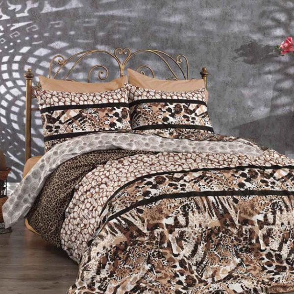 Lenjerie Animal Print Leopard, Ranforce, Bumbac 100% 0