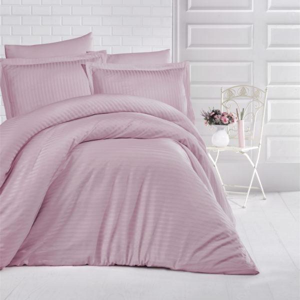 Lenjerie Damasc Pink Satin, Bumbac 100% 0
