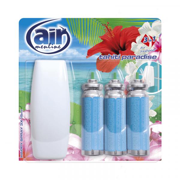 Menline Odorizant Aparat Spray Tahiti, 3x15ml 0