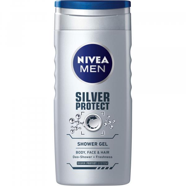 Nivea Gel De Dus Silver Protect 250ml [0]