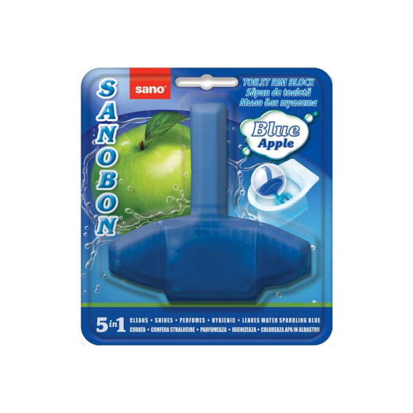 Odorizant WC Sano Bon Blue Mar 5in1, Solid, 55gr 0