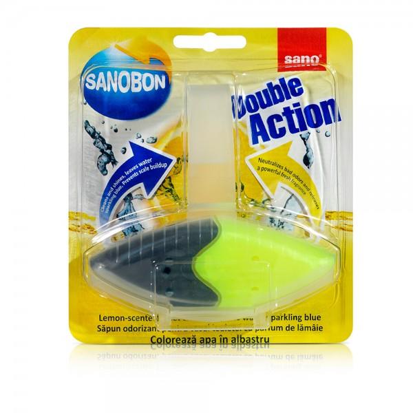 Odorizant WC Sano Bon Double Action Blue Lemon 55gr [0]