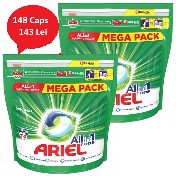 Pachet Ariel All In One Power 148 Capsule 0