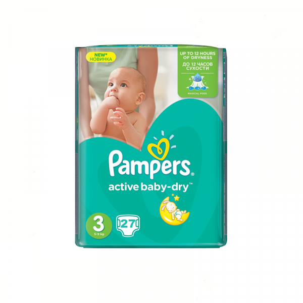 Pampers Active Baby Nr 3 (27buc/Pach) 0