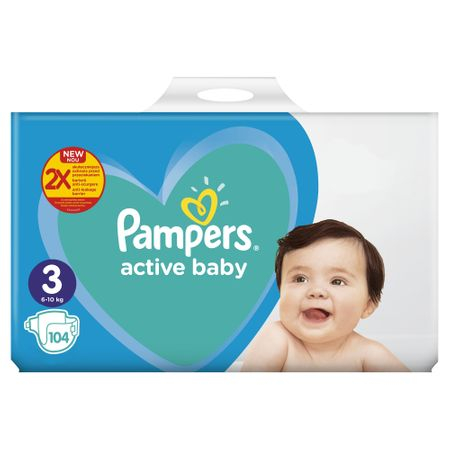 Pampers Nr 3 6-10kg (104buc/Pach) 0