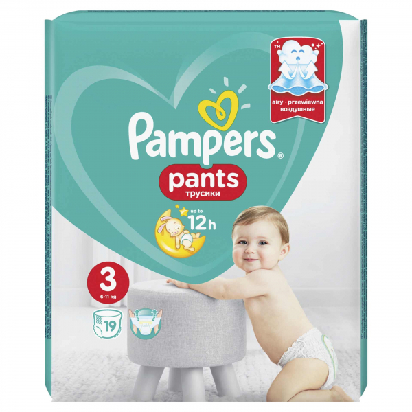 Pampers Pants Nr3 (19buc/Pach) 0