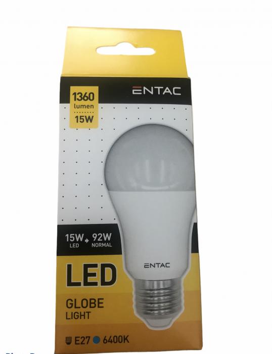 Entac Bec Avide Led E27 15(92)W Lumina Rece 0