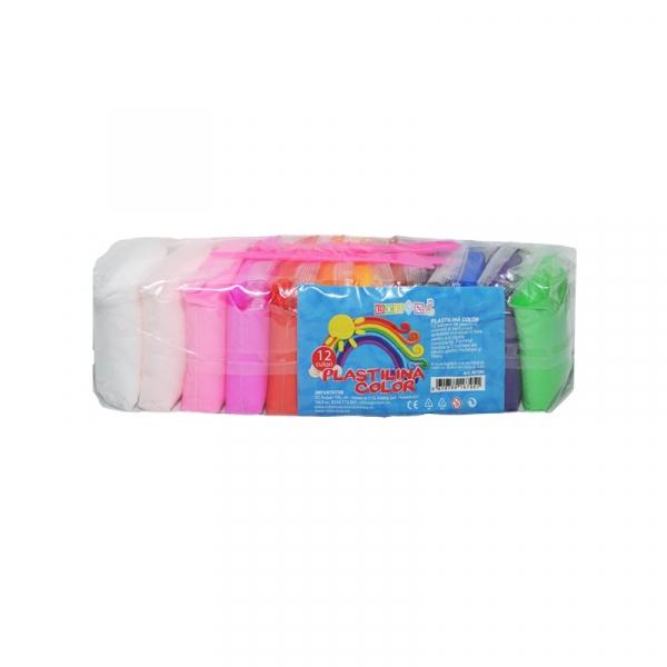 Plastilina modelaj 12 culori/set - ROBENTOYS 0