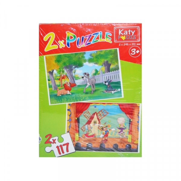 Puzzle 2 in 1, 117 piese Katy 0