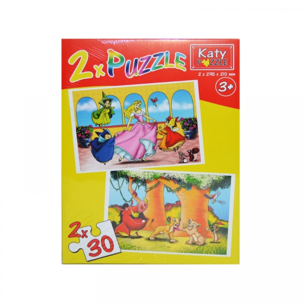 Puzzle 2 in 1, 30 piese Katy 0