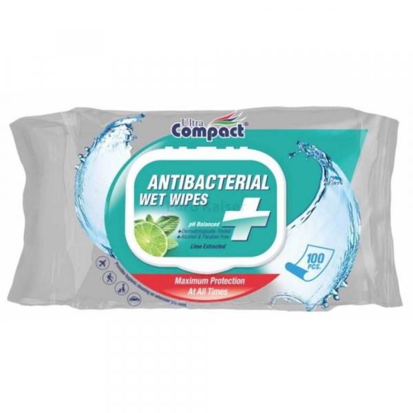 Compact Servetele Umede Antibacteriene Lime 100 Bucati [0]