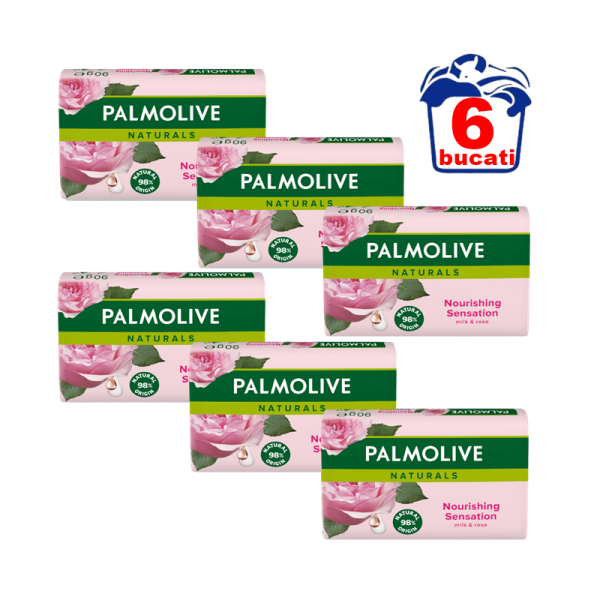 Palmolive Sapun Solid Milk&Rose (6bucati/set) 0
