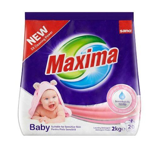 Sano Maxima Detergent Rufe Pudra Baby 2kg 0