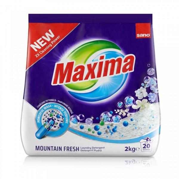 Sano Maxima Detergent Rufe Pudra Mountain Fresh 2kg 0
