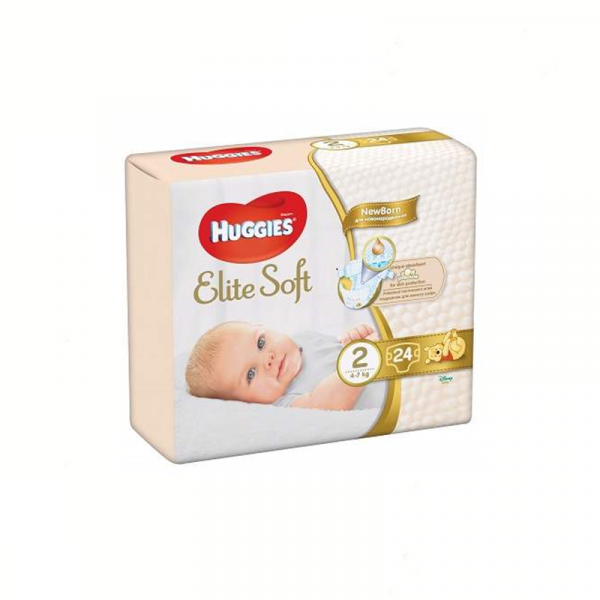 Scutece Huggies Elite Soft Nr2, 4-7kg, 24 buc 0