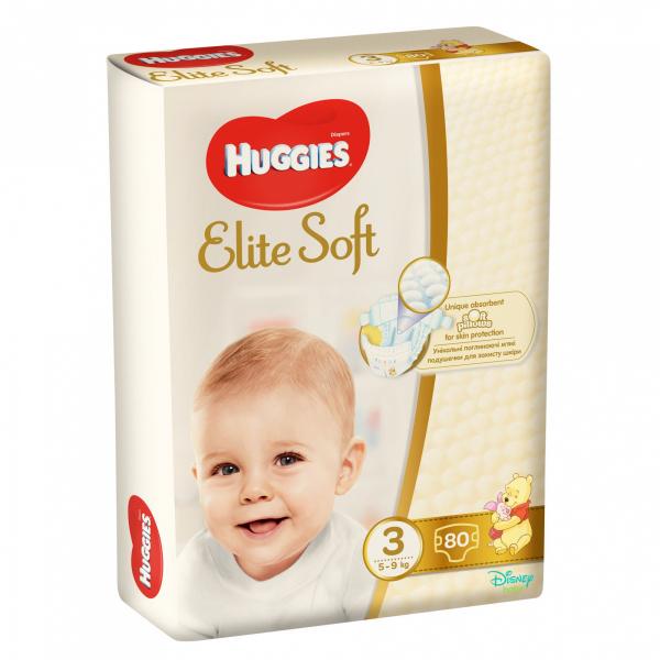 Scutece Huggies Elite Soft Nr3, 5-9 kg, 80 buc 0