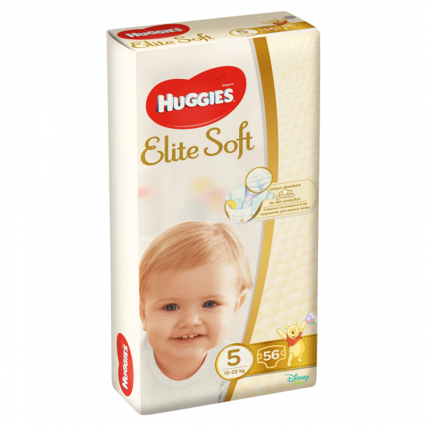 Scutece Huggies Elite Soft Nr5, 12-22  kg, 56 buc 0