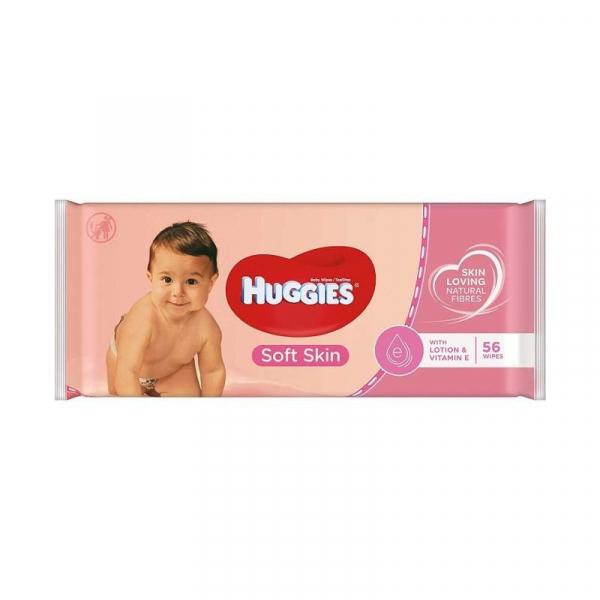 Servetele Huggies Soft Skin 56buc 0