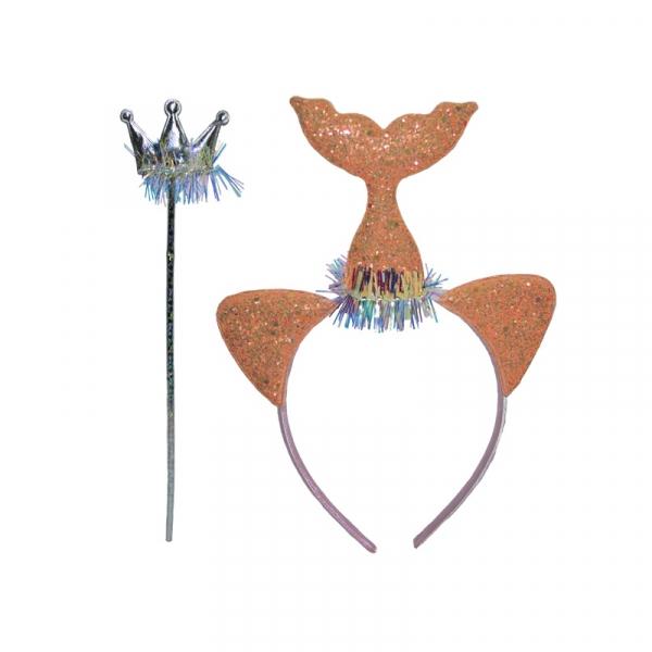 Set accesorii sirena: coronita, bagheta 0