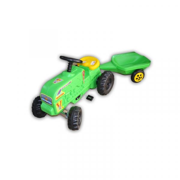 Tractor cu pedale verde Fermier 0