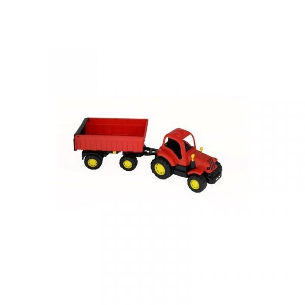 Tractor cu remorca - Hardy, 44x13x14 cm, Polesie 1