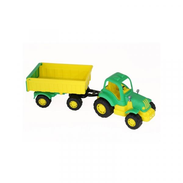 Tractor cu remorca - Hardy, 44x13x14 cm, Polesie 0