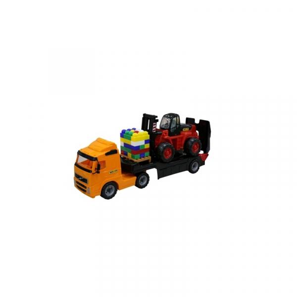 Trailer+stivuitor+palet cuburi - Volvo PowerTruck, 89x19x25 cm, 0