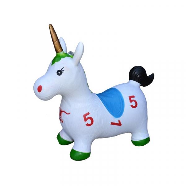 Unicorn din cauciuc, gonflabil, lumina si muzica 1